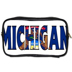 Michigan Travel Toiletry Bag (One Side)