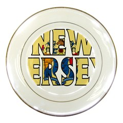 New Jersey Porcelain Display Plate