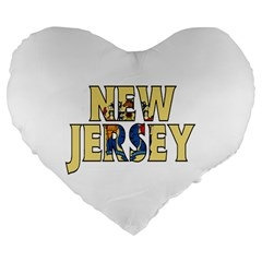 New Jersey 19  Premium Heart Shape Cushion