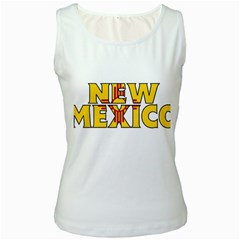 New Mexico Womens  Tank Top (White)