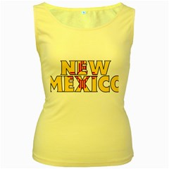 New Mexico Womens  Tank Top (Yellow)