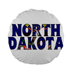 North Dakota 15  Premium Round Cushion