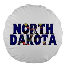 North Dakota 18  Premium Round Cushion