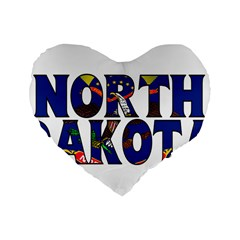 North Dakota 16  Premium Heart Shape Cushion