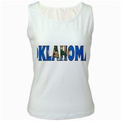 Oklahoma Womens  Tank Top (White)