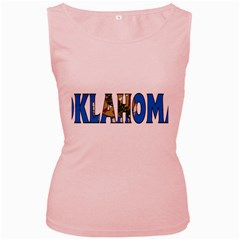 Oklahoma Womens  Tank Top (Pink)