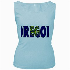 Oregon Womens  Tank Top (Baby Blue)