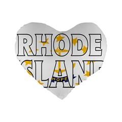 Rhode Island 16  Premium Heart Shape Cushion