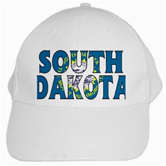 South Dakota White Baseball Cap