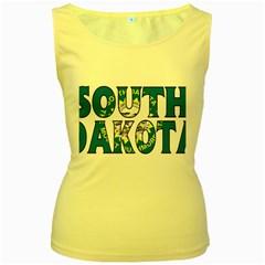 South Dakota Womens  Tank Top (Yellow)