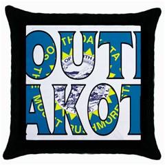 South Dakota Black Throw Pillow Case