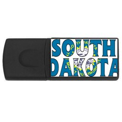 South Dakota 4GB USB Flash Drive (Rectangle)
