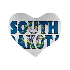 South Dakota 16  Premium Heart Shape Cushion