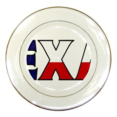 Texas Porcelain Display Plate