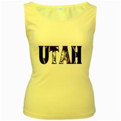 Utah Womens  Tank Top (Yellow)