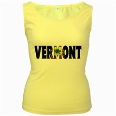 Vermont Womens  Tank Top (Yellow)