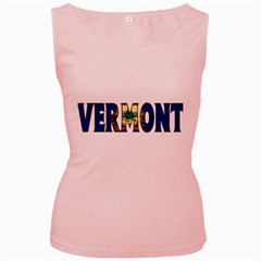 Vermont Womens  Tank Top (Pink)