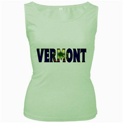 Vermont Womens  Tank Top (Green)