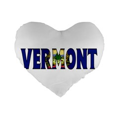 Vermont 16  Premium Heart Shape Cushion