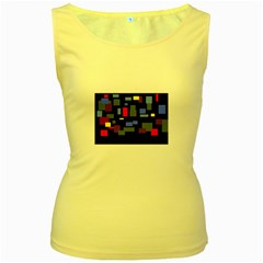 Contempt Womens  Tank Top (yellow)