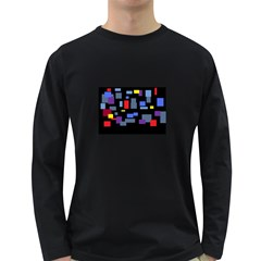 Contempt Mens' Long Sleeve T Shirt (dark Colored)