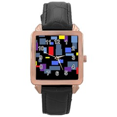 Contempt Rose Gold Leather Watch