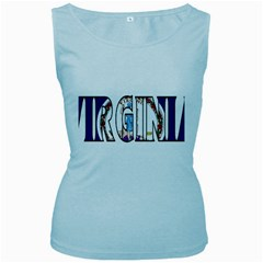 Virginia Womens  Tank Top (Baby Blue)