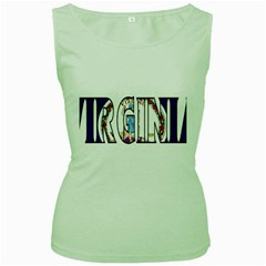 Virginia Womens  Tank Top (Green)