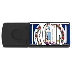 Virginia 1GB USB Flash Drive (Rectangle)