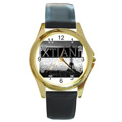 Xtianiparis Round Metal Watch (gold Rim)