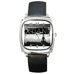 Xtianiparis Square Leather Watch
