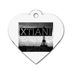 Xtianiparis Dog Tag Heart (one Sided)