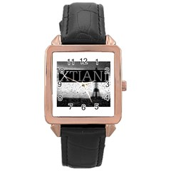 Xtianiparis Rose Gold Leather Watch
