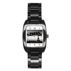 Xtianiparis Men s Stainless Steel Barrel Analog Watch