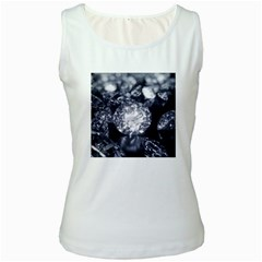 15661082 Shiny Diamonds Background Womens  Tank Top (White)