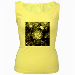 15661082 Shiny Diamonds Background Womens  Tank Top (Yellow)