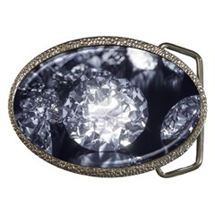 15661082 Shiny Diamonds Background Belt Buckle (Oval)