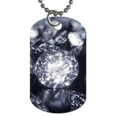 15661082 Shiny Diamonds Background Dog Tag (Two Sided)