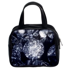 15661082 Shiny Diamonds Background Classic Handbag (Two Sides)