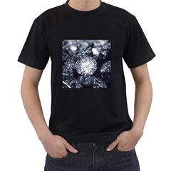 15661082 Shiny Diamonds Background Mens' T Shirt (black)
