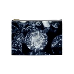 15661082 Shiny Diamonds Background Cosmetic Bag (medium)