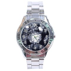 15661082 Shiny Diamonds Background Stainless Steel Watch (Men s)