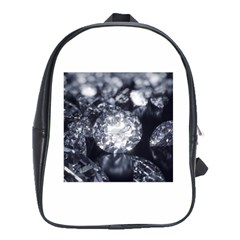 15661082 Shiny Diamonds Background School Bag (XL)