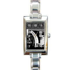 Xtianilogo Rectangular Italian Charm Watch