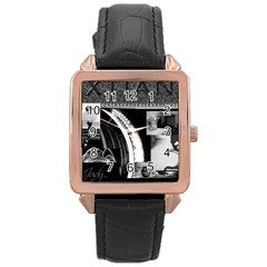 Xtianilogo Rose Gold Leather Watch