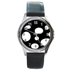 White23 Round Metal Watch (silver Rim)