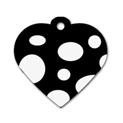 White23 Dog Tag Heart (one Sided)