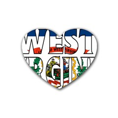 West Va Drink Coasters 4 Pack (heart)