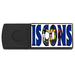 Wisconsin 1GB USB Flash Drive (Rectangle)