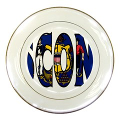 Wisconsin Porcelain Display Plate